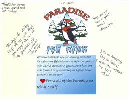 Thank you, Paradise Ice Rink!
