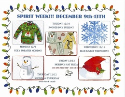 Spirit Week - December 9th-13th