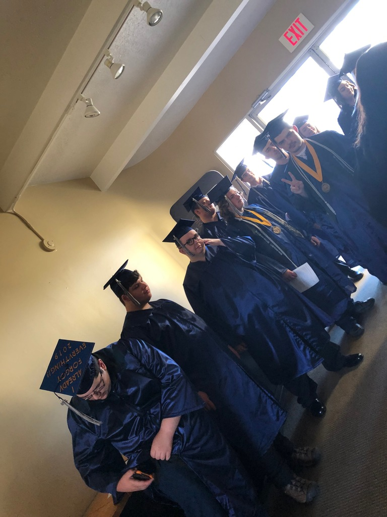 Graduates getting ready